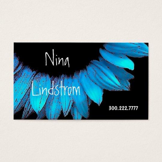 Blue  Sunflower Business Card B001 Template