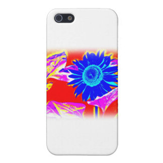 Blue Sunflower Case For iPhone SE/5/5s