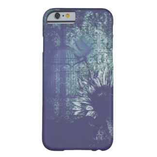 Blue Sunflower Grunge Dove in Flight Phone Case