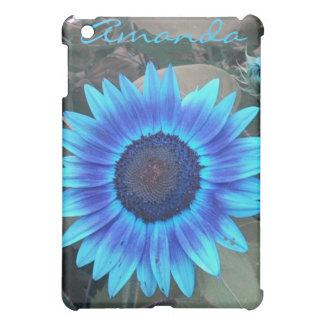 Blue Sunflower iPad case *personlize*