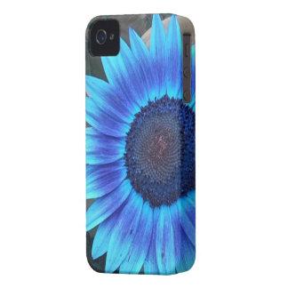 Blue Sunflower iPhone 4 case