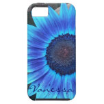 Blue Sunflower iPhone 5 case *personalize*