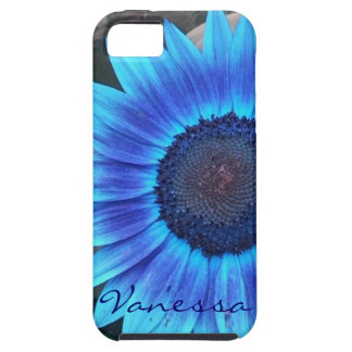 Blue Sunflower iPhone 5 case personalize
