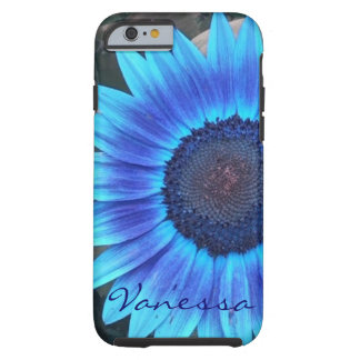 Blue Sunflower iPhone 6 case