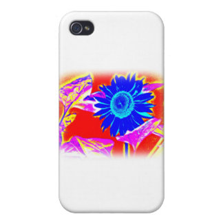 Blue Sunflower iPhone 4 Cases