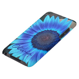 Blue Sunflower iPod Touch  case *personalize*