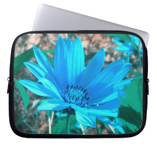Blue Sunflower Laptop Sleeve