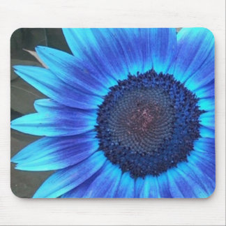 Blue Sunflower Mouse pad