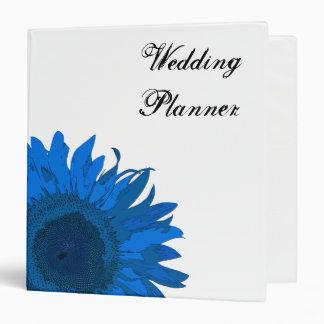 Blue Sunflower Wedding 1.5 Inch Binder