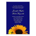 "Blue Sunflower Wedding Invitation 5"" X 7"" Invitation Card"