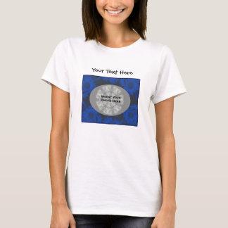 Blue Sunflowers Design Floral Photo T-Shirt