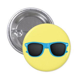 Blue Sunglasses Pinback Button