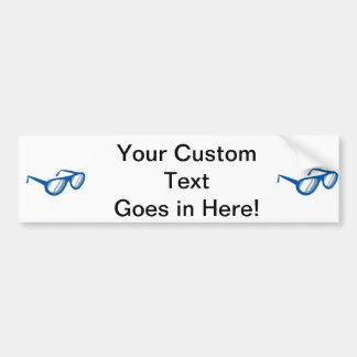blue sunglasses reflection.png bumper sticker