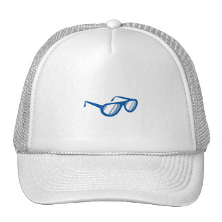 blue sunglasses reflection png trucker hat