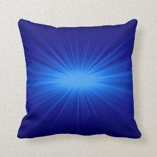 Blue sunlight abstract art 2 pillow
