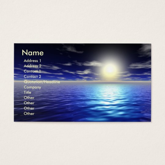 Blue Sunrise Business Card