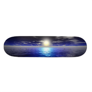 Blue Sunrise Skateboard