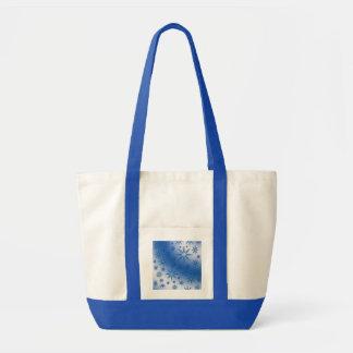 Blue suns seamless pattern canvas bag