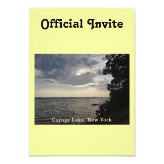 Blue Sunset Cayuga Lake Card