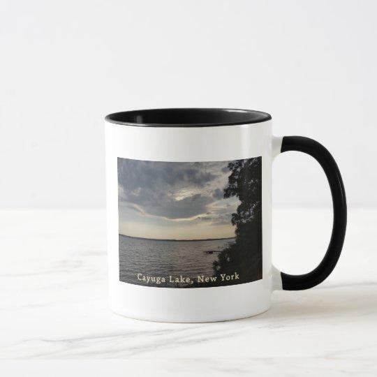 Blue Sunset Cayuga Lake Mug