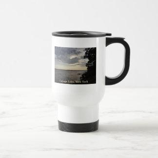 Blue Sunset Cayuga Lake Travel Mug