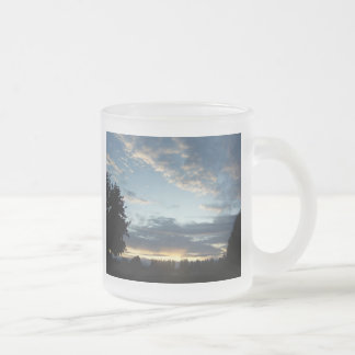 Blue Sunset Dreams Frosted Frosted Glass Coffee Mug