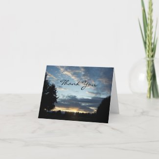 Blue Sunset Dreams, Thank You card