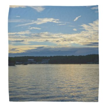 Beach Themed Blue Sunset Lake Of Ozarks Bandana