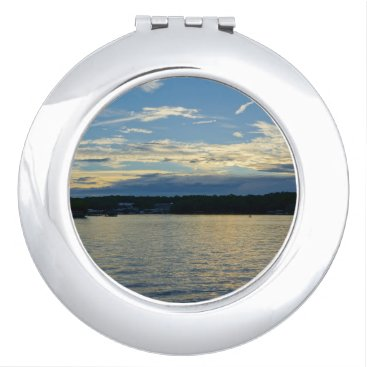 Beach Themed Blue Sunset Lake Of Ozarks Compact Mirror