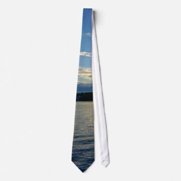 Blue Sunset Lake Of Ozarks Neck Tie
