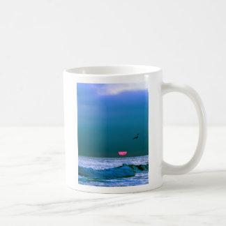 Blue Sunset Classic White Coffee Mug