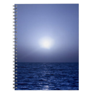 Blue sunset notebook