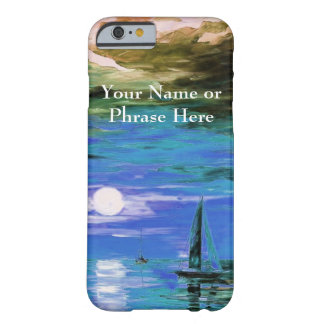 Blue Sunset Over Water - Painting Effect Barely There iPhone 6 Case