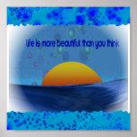 Blue sunset print