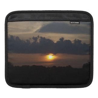 Blue Sunset Skies Clouds Nature Photo iPad Sleeve