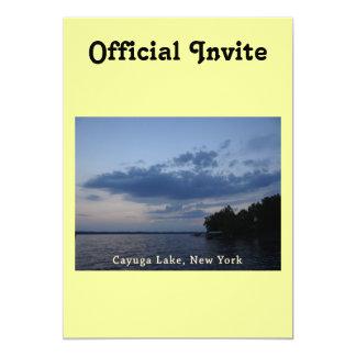 Blue Sunset Sky Cayuga Lake NY Card