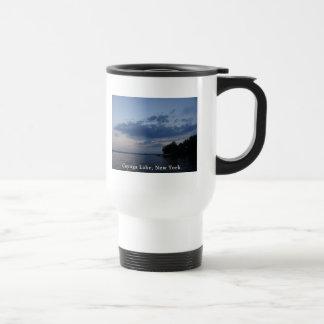 Blue Sunset Sky Cayuga Lake NY Travel Mug