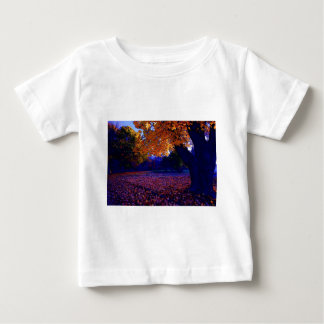 Blue Sunset Trees Baby T-Shirt