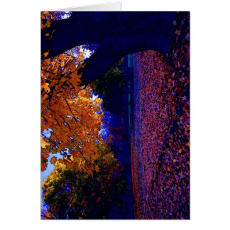 Blue Sunset Trees Card