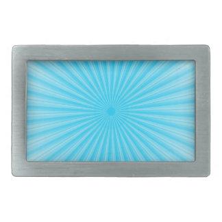 Blue Sunshine Radial Pattern Belt Buckle