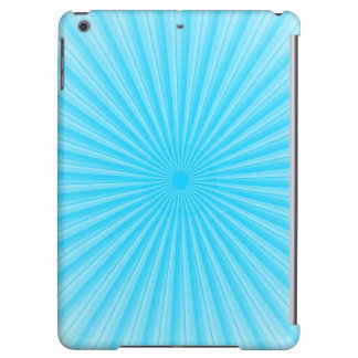 Blue Sunshine Radial Pattern iPad Air Covers