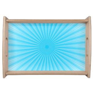 Blue Sunshine Radial Pattern Serving Tray