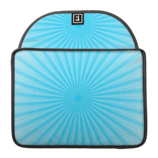 Blue Sunshine Radial Pattern Sleeve For MacBook Pro