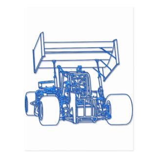 Blue Super Modified Postcard