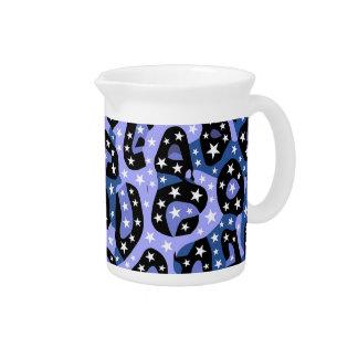 Blue Super Star Cheetah Abstract Drink Pitcher