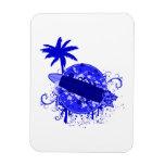 Blue Surf Board Magnet