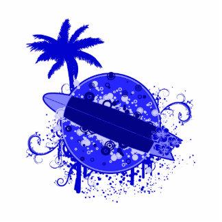 Blue Surf Board Statuette
