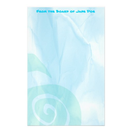 Blue Surf Stationery
