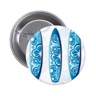 Blue Surfboard Design Pin