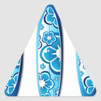 Blue Surfboard Design Triangle Sticker